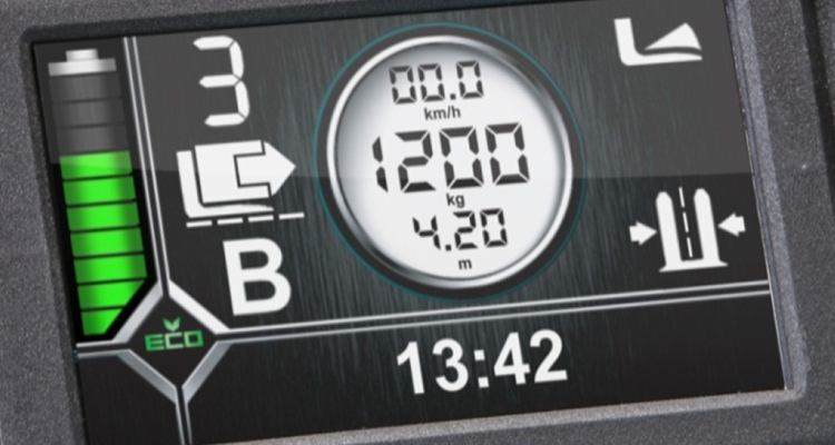 User interface for electric lift trucks